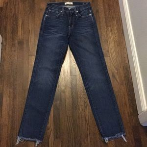 New madewell slim straight high waisted jeans